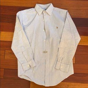 Ralph Lauren Boys Striped Button Down Sz 12
